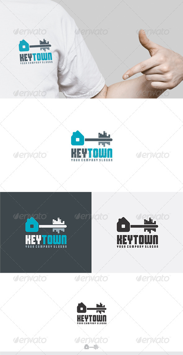Key Town Logo - Buildings Logo Templates