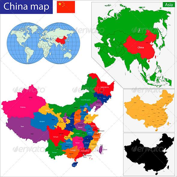 China Map - Travel Conceptual