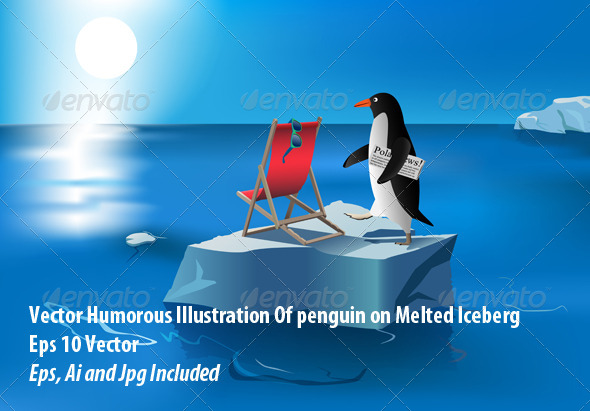Penguin Sunbathing - Conceptual Vectors
