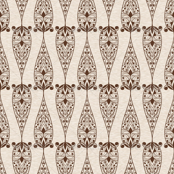 Abstract Seamless Ethnic Floral Pattern - Patterns Decorative