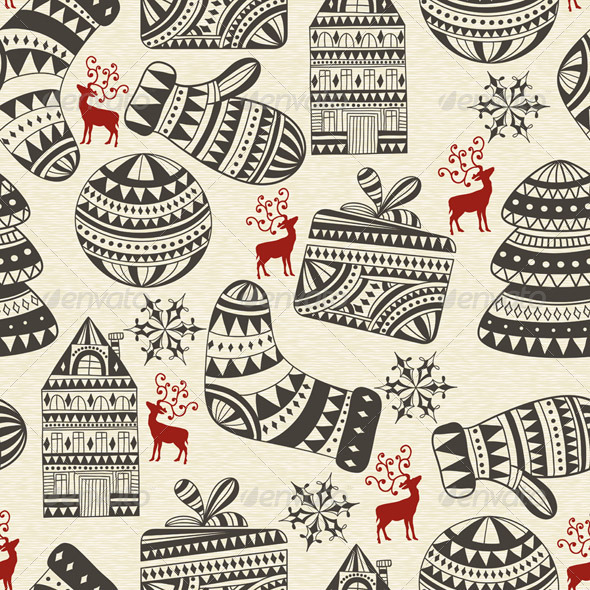 Seamless Winter Pattern - Patterns Decorative