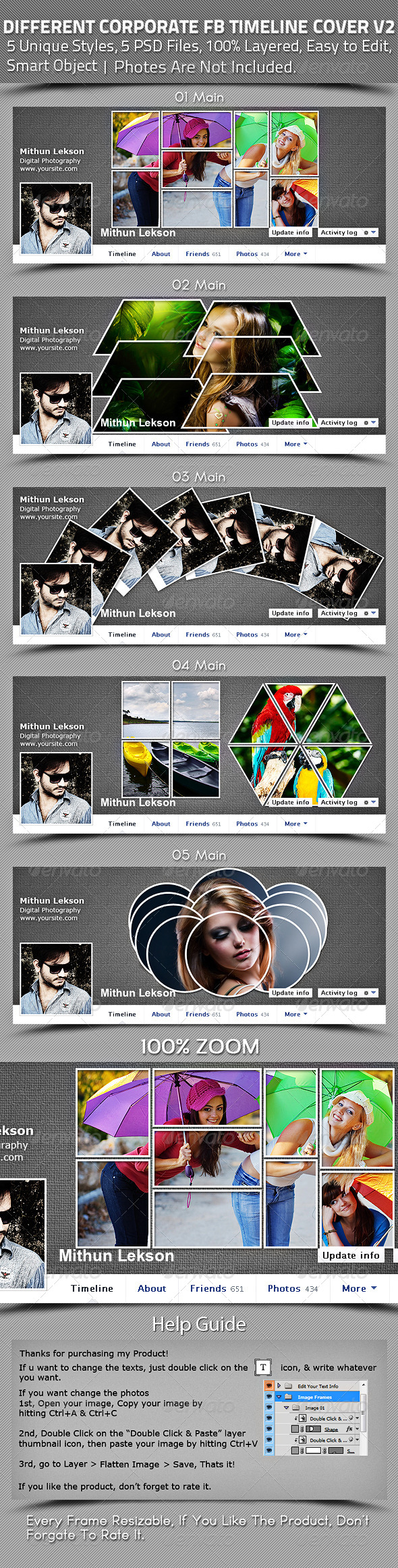 Different Corporate Facebook Timeline Cover V2 - Facebook Timeline Covers Social Media