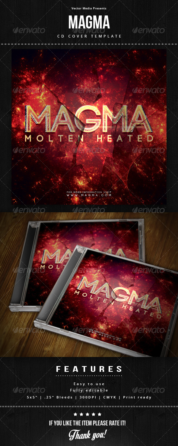 Magma - Cd Cover - CD & DVD Artwork Print Templates