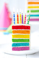 Colorful slice of birthday cake - PhotoDune Item for Sale
