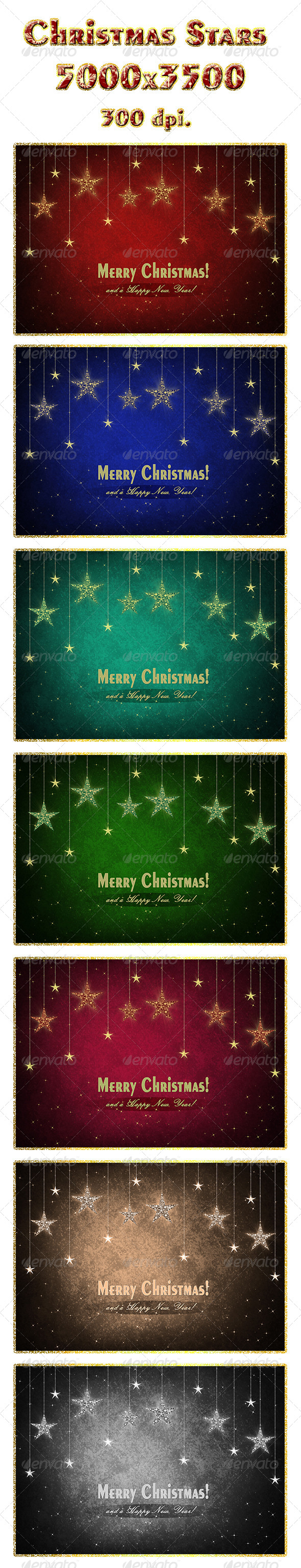 Christmas Stars - Abstract Backgrounds