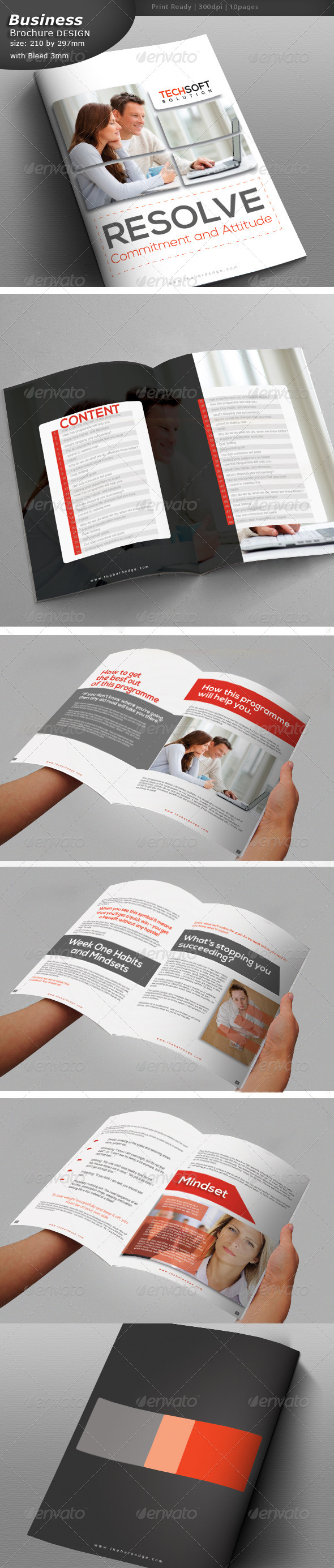 Lawyer Brochure Design  - Brochures Print Templates