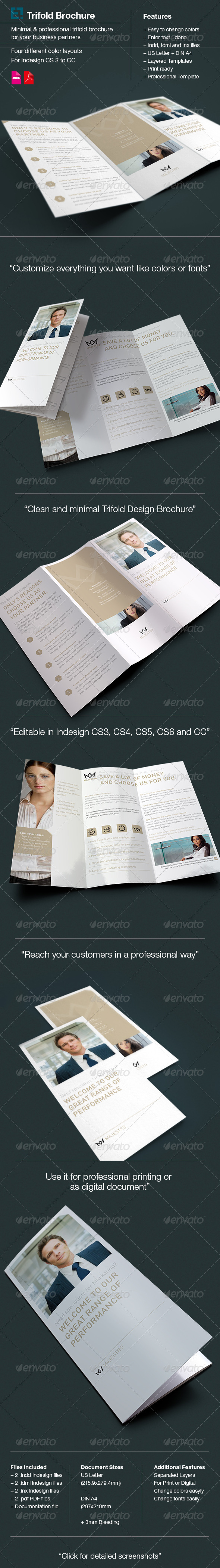 Majestro Trifold Brochure / Letter & A4 - Corporate Brochures