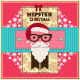 Hipster Christmas Greeting Cards - GraphicRiver Item for Sale