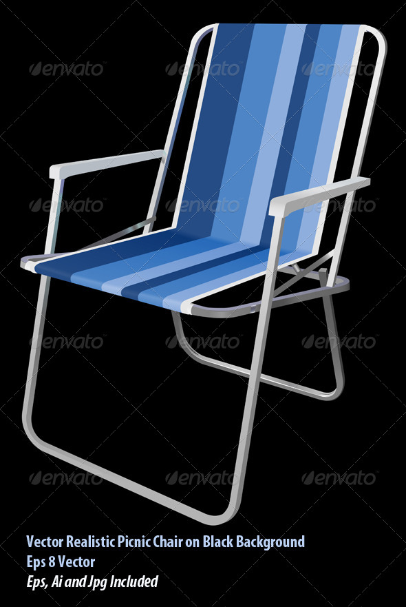 Picnic Chair - Objects Vectors