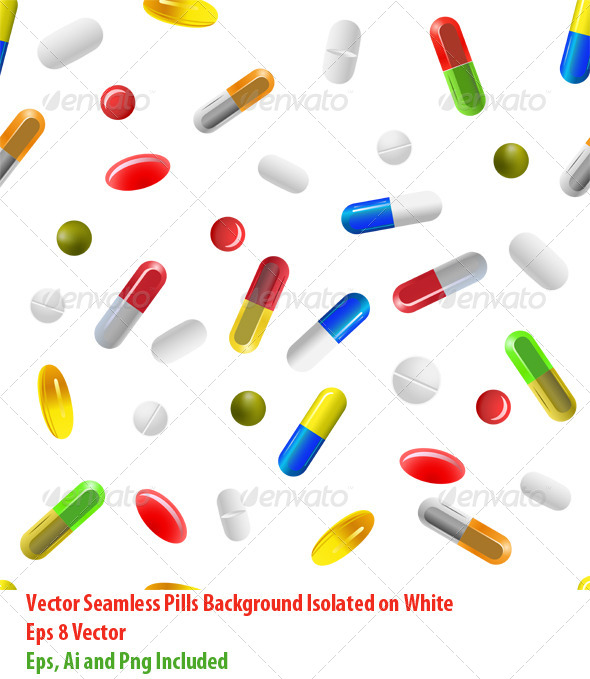 Pills Background - Health/Medicine Conceptual