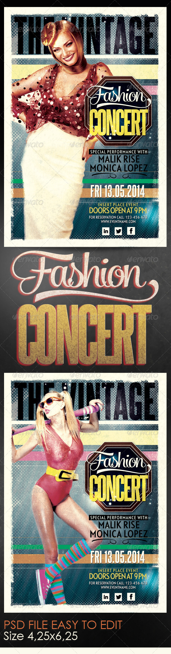 Fashion Concert Flyer Template - Clubs & Parties Events