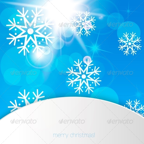 New Year Snowflakes Background  - Patterns Decorative