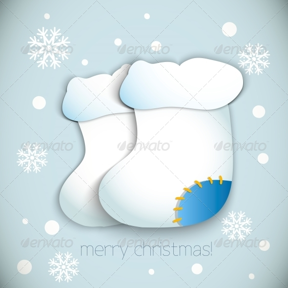 Christmas Boots - Vector - Christmas Seasons/Holidays