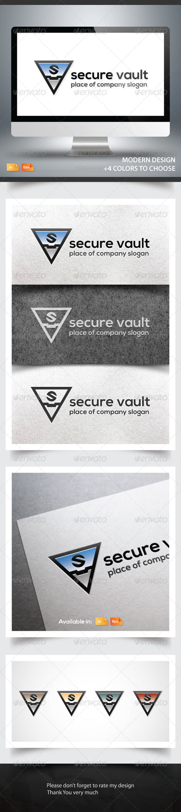 Secure Vault - Objects Logo Templates