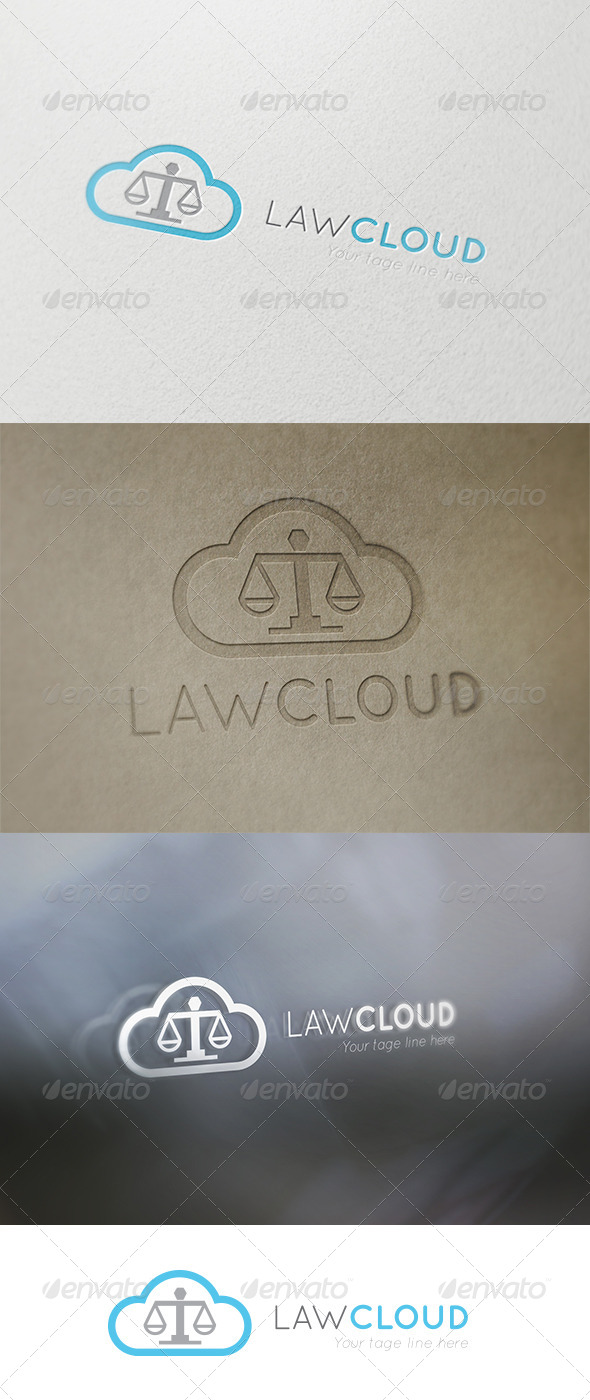 Law Cloud - Symbols Logo Templates