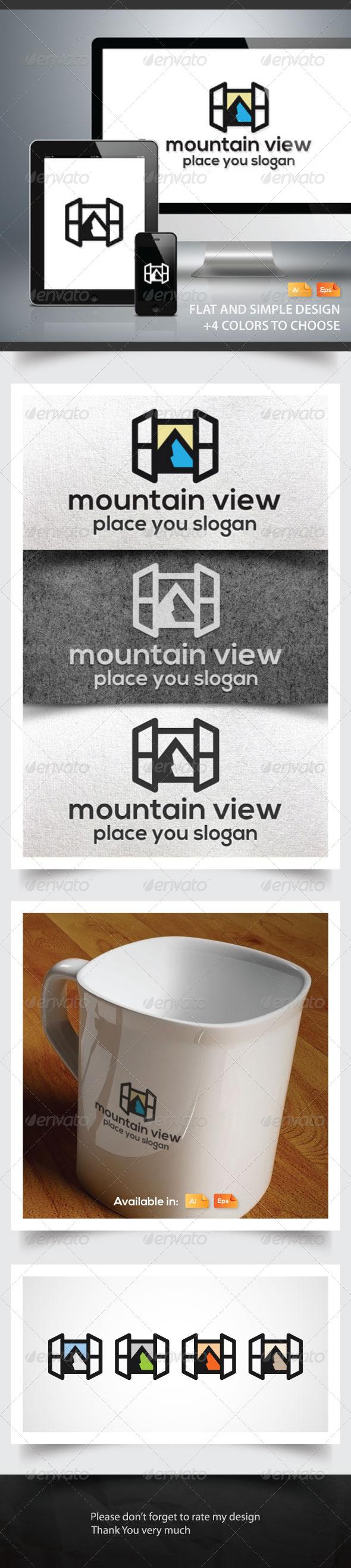 Mountain View Logo - Nature Logo Templates