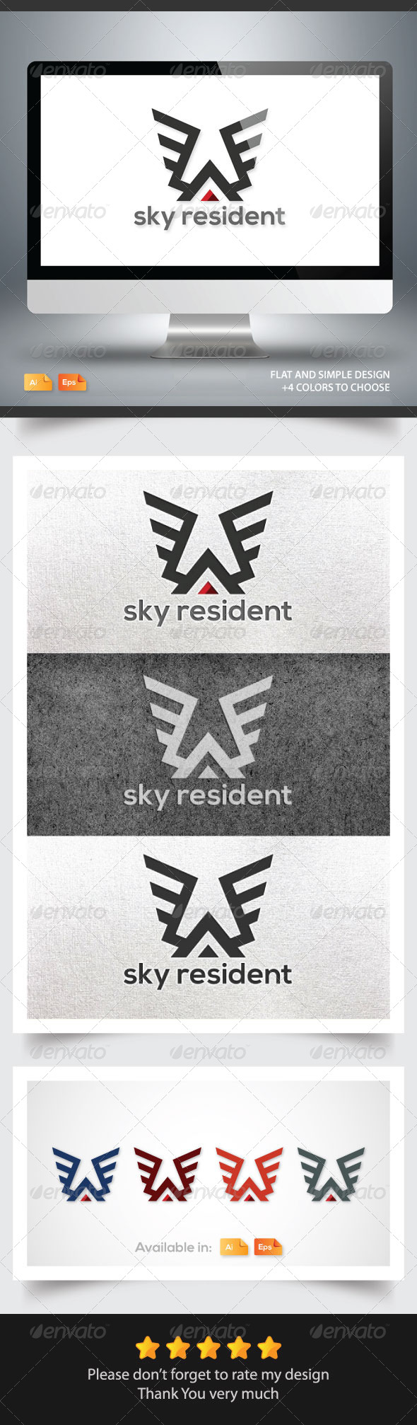 Sky Resident - Buildings Logo Templates