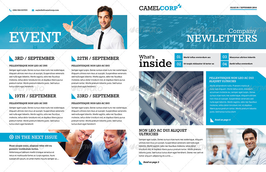 Corporate Newsletter Design Templates