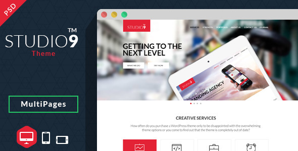 Studio9 – Theme PSD