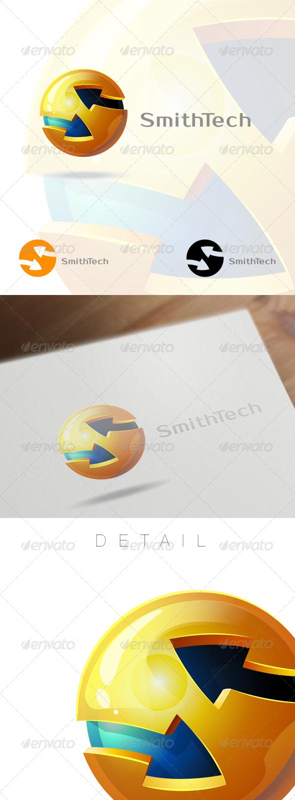 3D Globe & Arrow S Letter - Business Logo - Letters Logo Templates