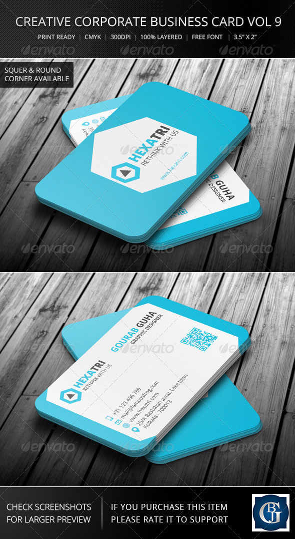 Creative Corporate Business Card Vol 9 - Corporate Business Cards