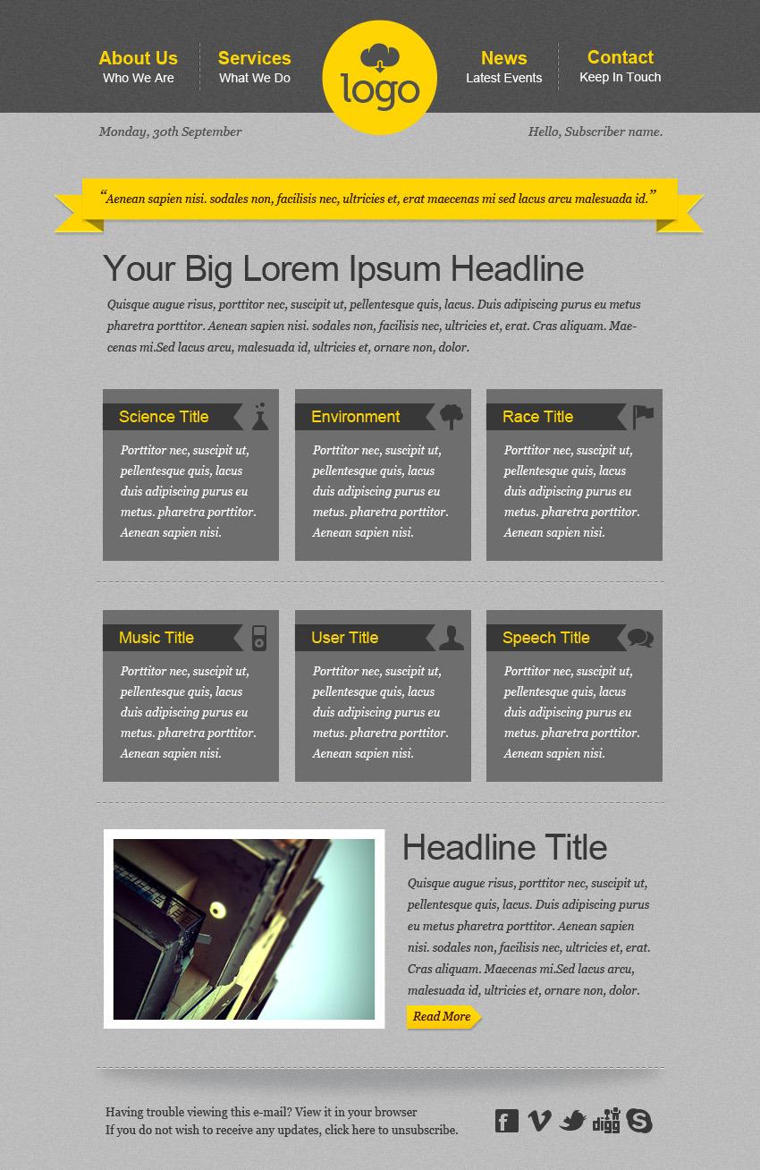 Generous Html Mailer Templates Photos - Professional Resume Example ...