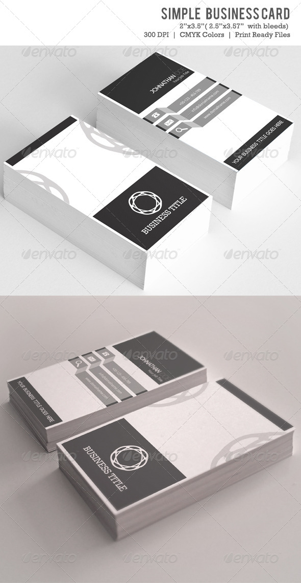 Simple Business Card VOL-04 - Creative Business Cards