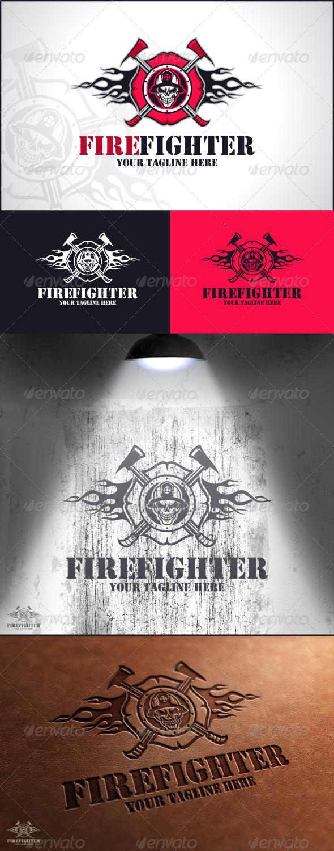 Fire Fighter Logo Template - Humans Logo Templates