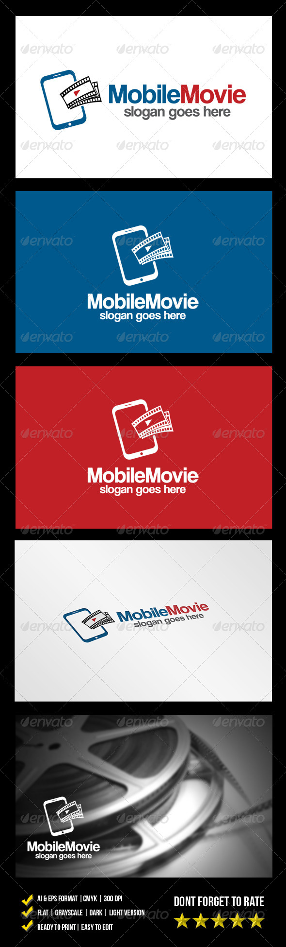 Mobile Movie Logo - Objects Logo Templates