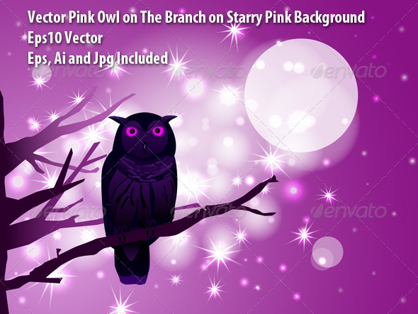 Pink Owl - Animals Characters