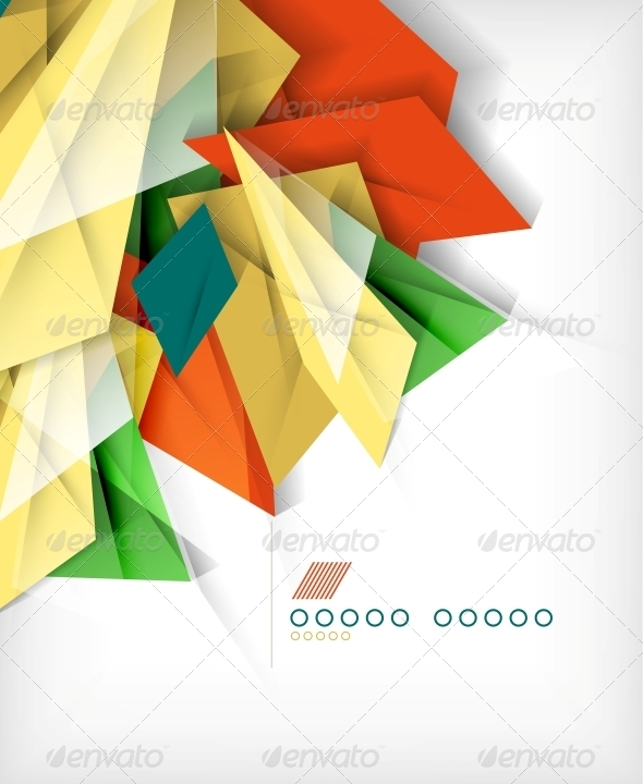Business Geometric Shape Abstract Background - Backgrounds Business