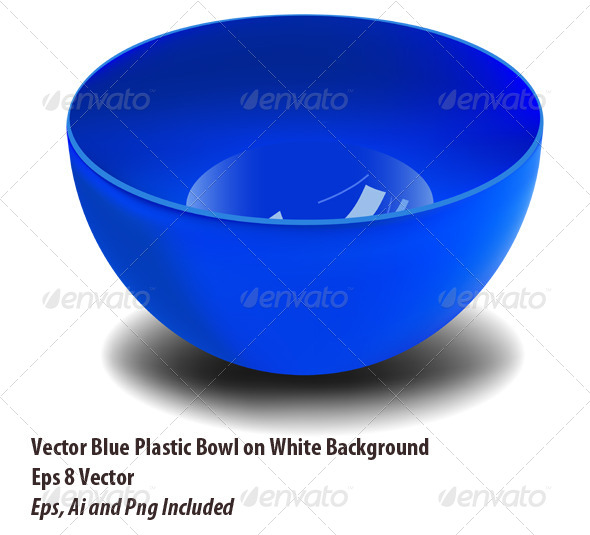 Plastic Bowl - Man-made Objects Objects