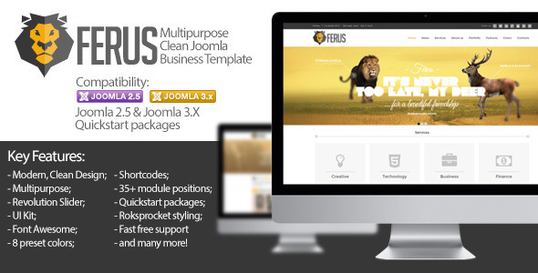 Ferus - Clean Responsive Multipurpose Joomla Theme - Business Corporate
