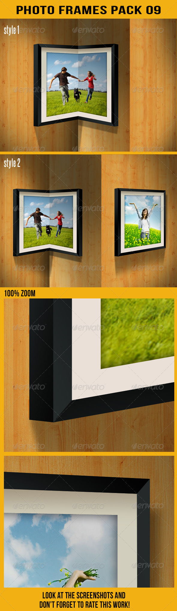 Photo Frames Pack 09 - Artistic Photo Templates