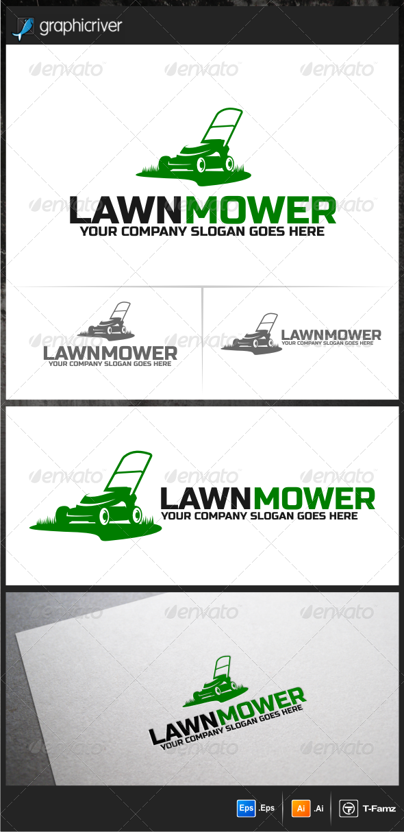 Lawn Mower Logo Templates - Objects Logo Templates