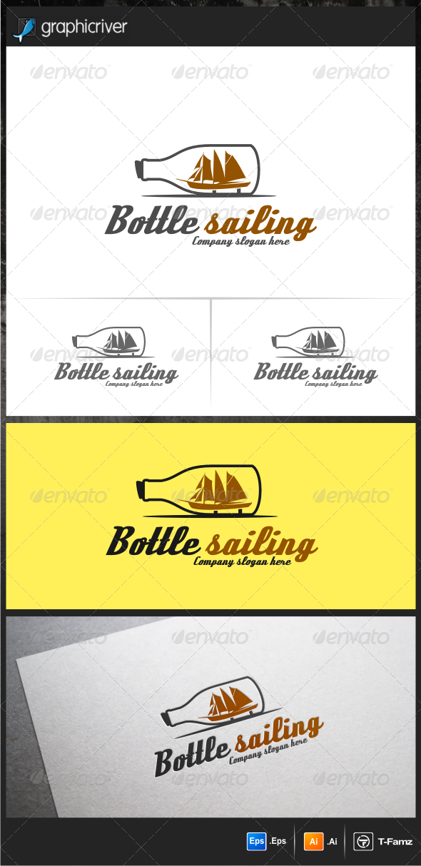 Bottle Sailing Logo Templates - Objects Logo Templates