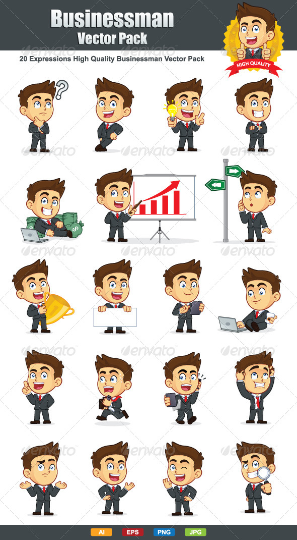 Businessman Vector Pack - People Characters