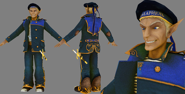 Steampunk Elf Marine - 3DOcean Item for Sale