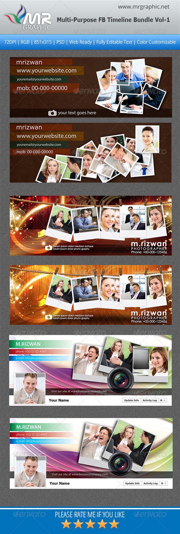 Photographi FB Timeline Bundle Vol-1 - Facebook Timeline Covers Social Media