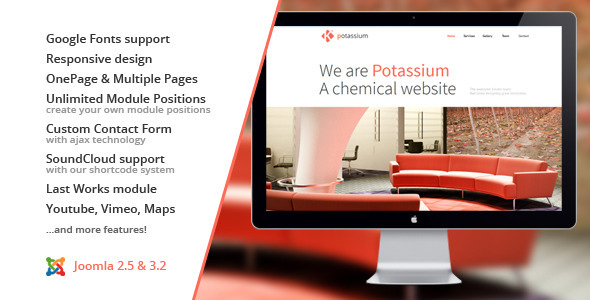 Potassium :: Joomla One Page Template - Creative Joomla
