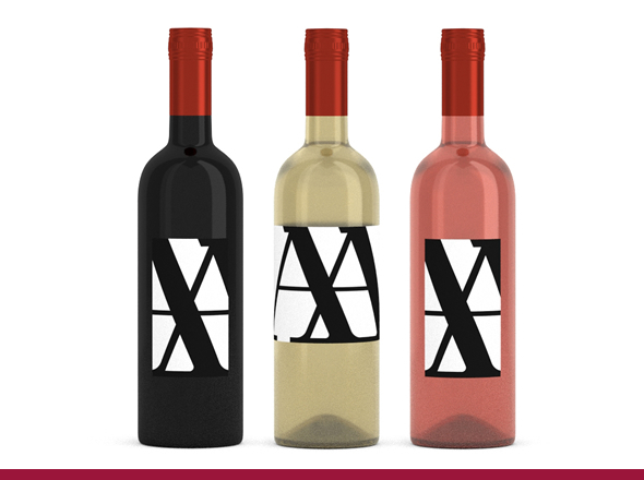 Wine Bottles with Labels - 3DOcean Item for Sale