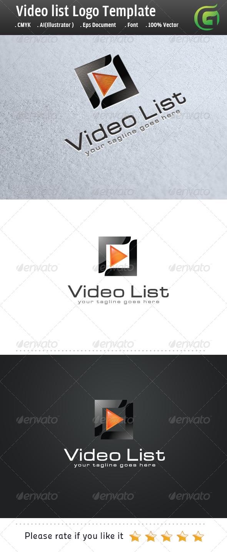 Video List - Symbols Logo Templates