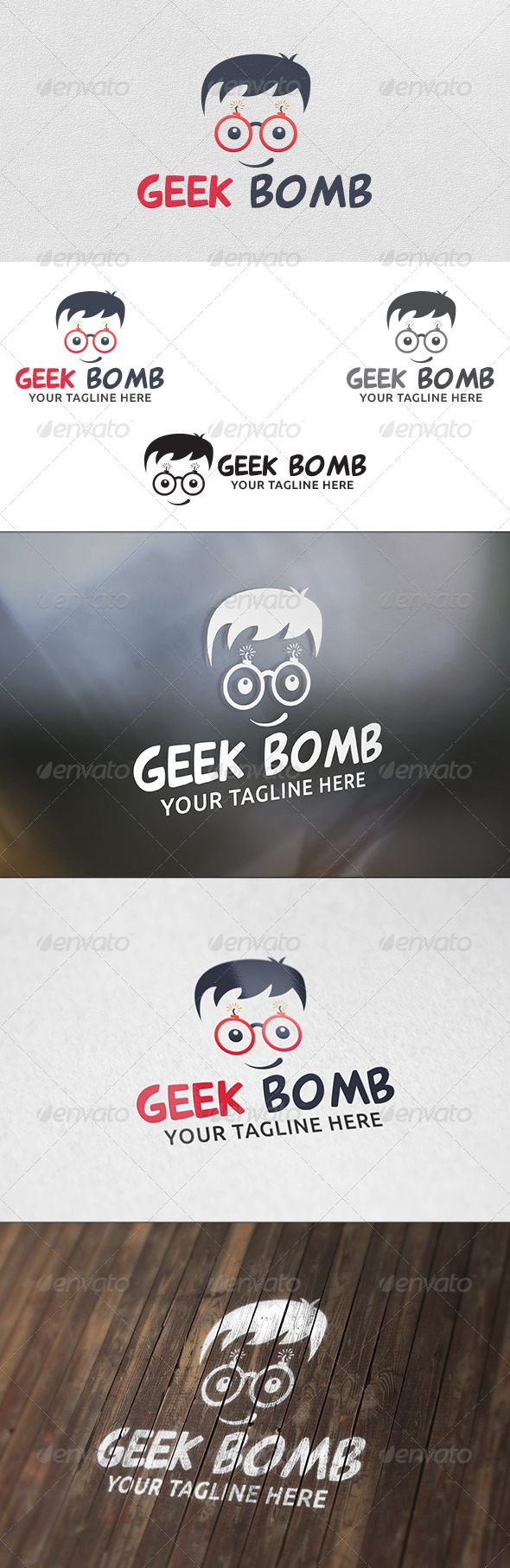 Geek Bomb - Logo Template - Humans Logo Templates