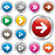 Arrow Sign Icon Set. Simple Shape Internet Buttons - GraphicRiver Item for Sale