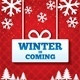 Winter is Coming Sale Background. Merry Christmas - GraphicRiver Item for Sale