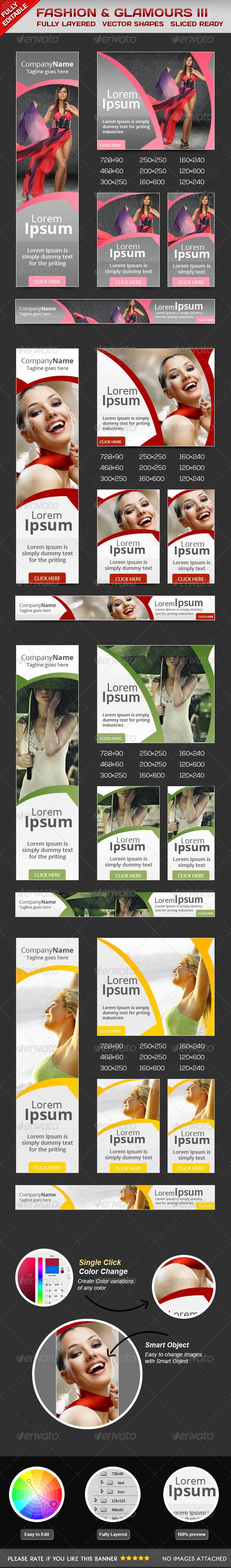 Fashion Glamorous Banners II - Banners & Ads Web Elements