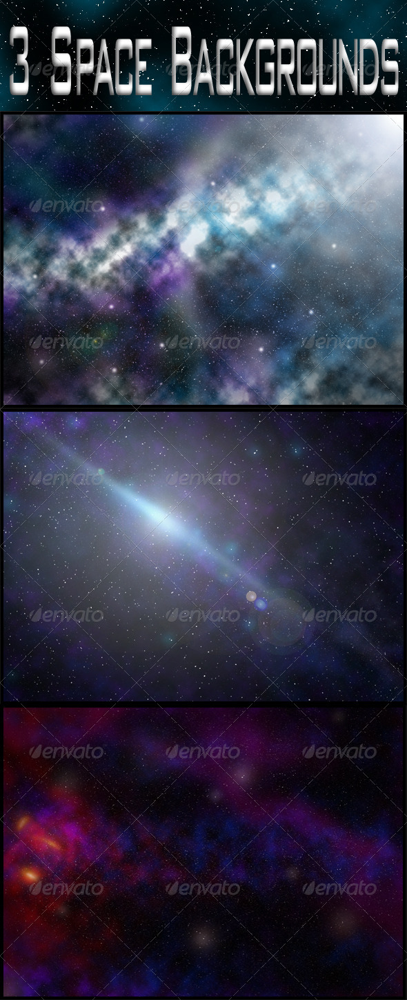 3 Space Backgrounds - Nature Backgrounds