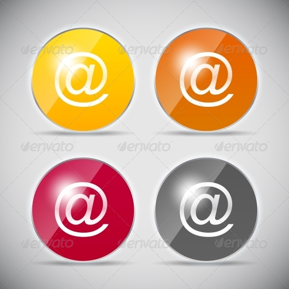 Shiny Glossy Computer Icon Vector Illustration - Web Technology