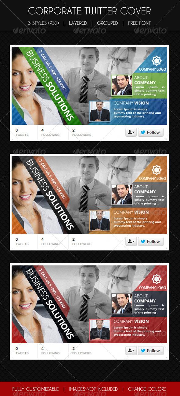 Multipurpose Corporate Twitter Cover - Twitter Social Media