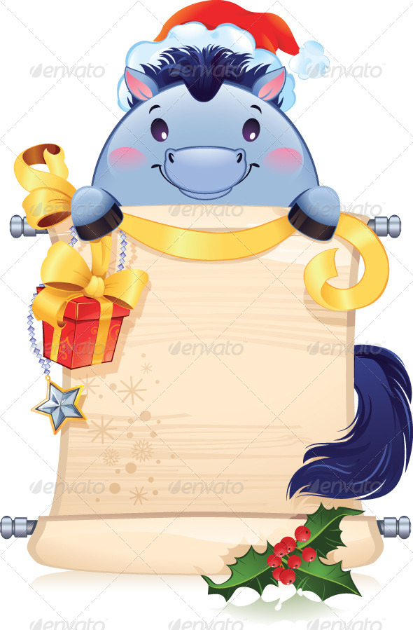 The Blue Horse is a Symbol of the Approaching New Year  - New Year Seasons/Holidays